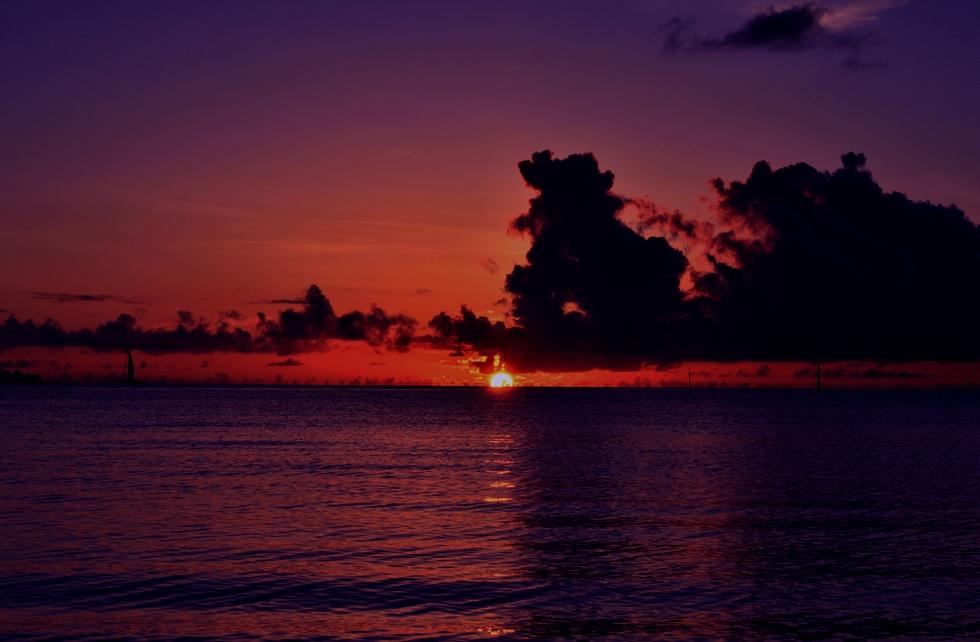 シークレットビーチの夕日
