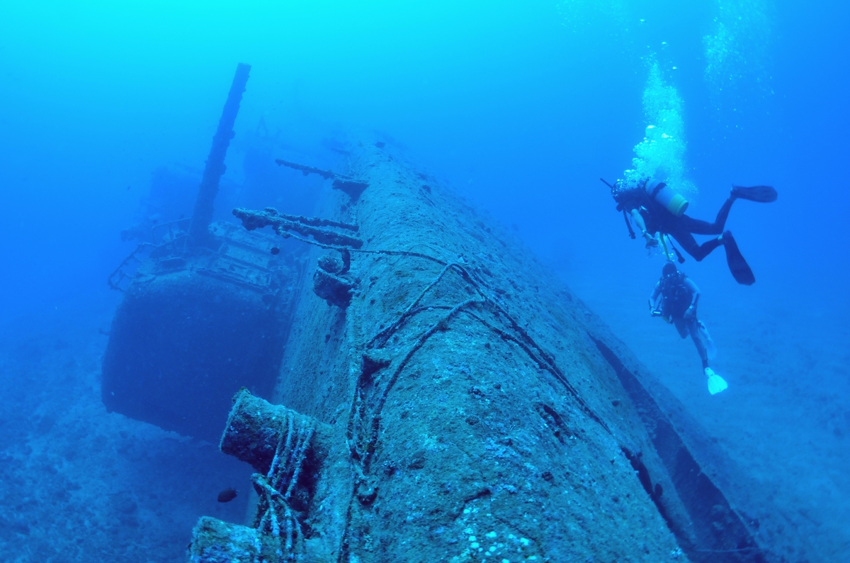 USS EMMONS・米軍掃海艇駆逐艦 船首 1