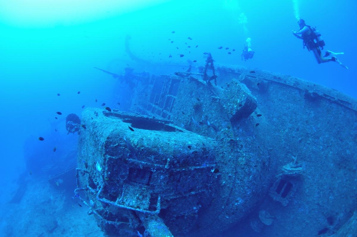 USS EMMONS・米軍掃海艇駆逐艦 船首 2