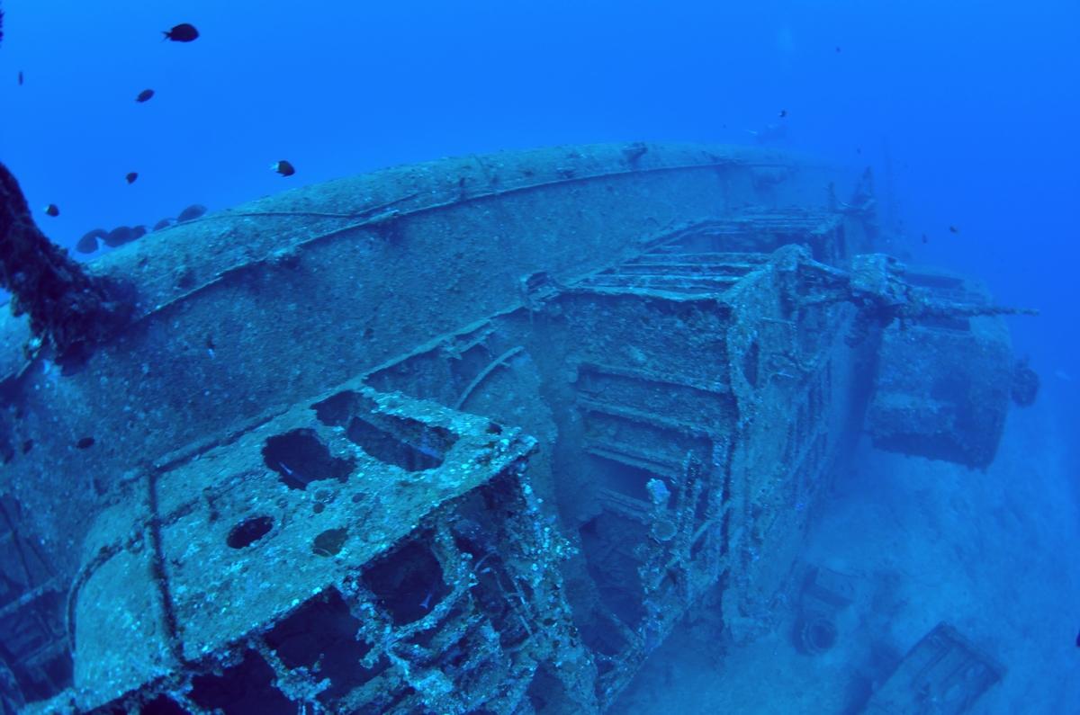 USS EMMONS・米軍掃海艇駆逐艦 船首 3