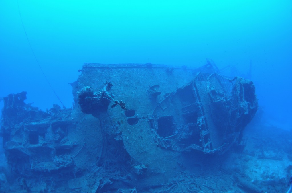 USS EMMONS・米軍掃海艇駆逐艦 船尾部分