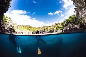 マリンレイクの半水面 宮古島