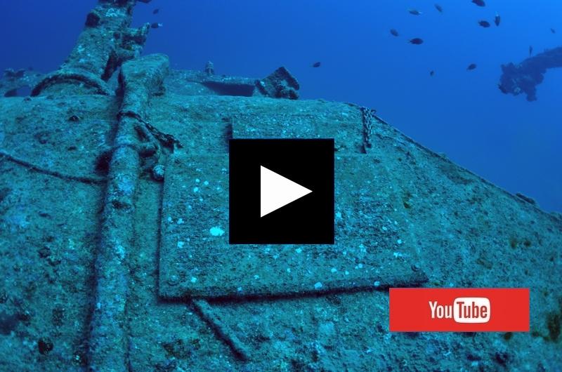 エモンズ 沖縄の沈没船 Go Pro・ゴープロの水中撮影