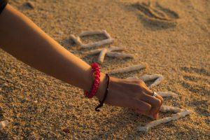 ワールドダイビング・シークレットビーチの夕日
