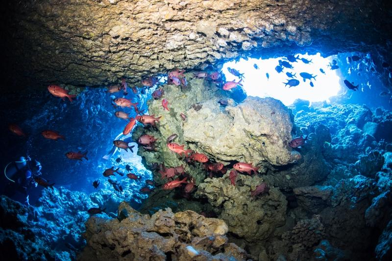 オホバNO2 大洞窟の幻想的な光