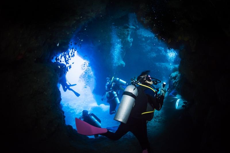 カナン崎ドームのトンネルの出口