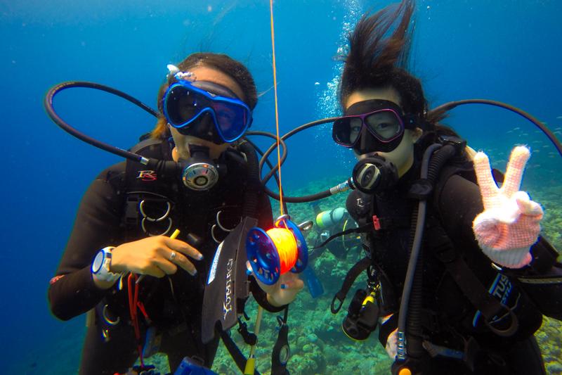 古宇利島の調査ダイビング・Gopro(ゴープロ)の水中写真