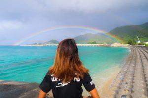 海と虹・ゴリラチョップへ向かう途中