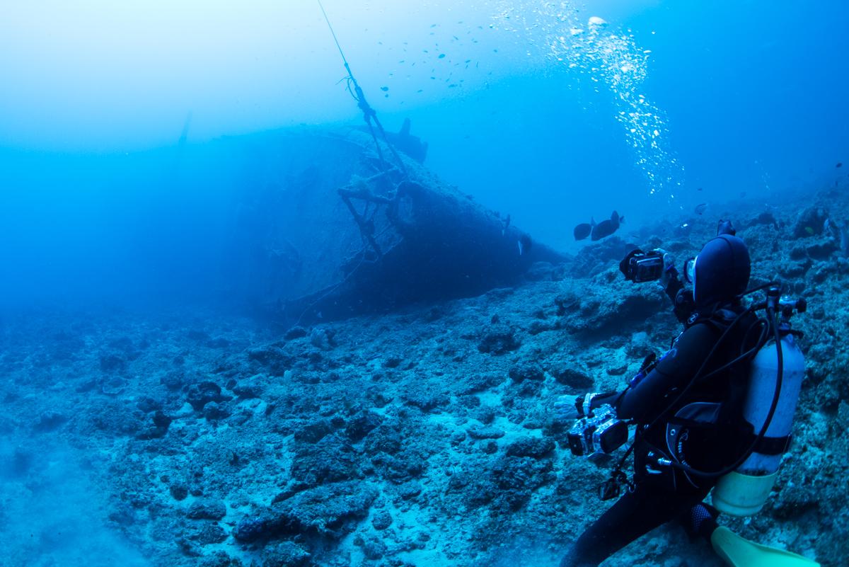 船首からの撮影ポイント エモンズ・USS EMMONS