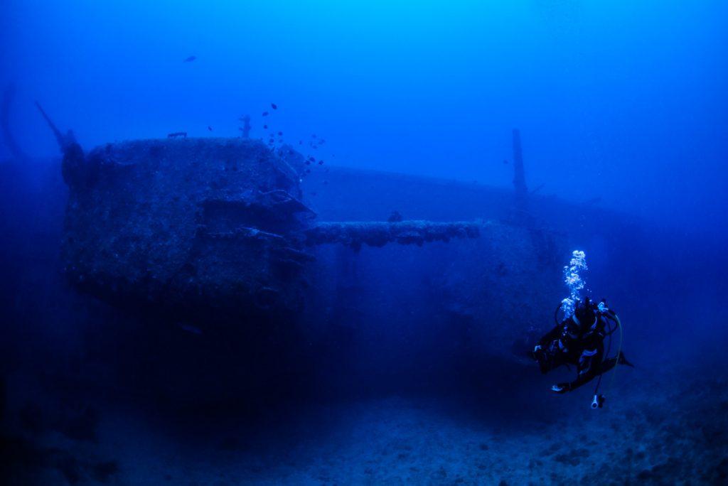 USS EMMONS・船首の主砲