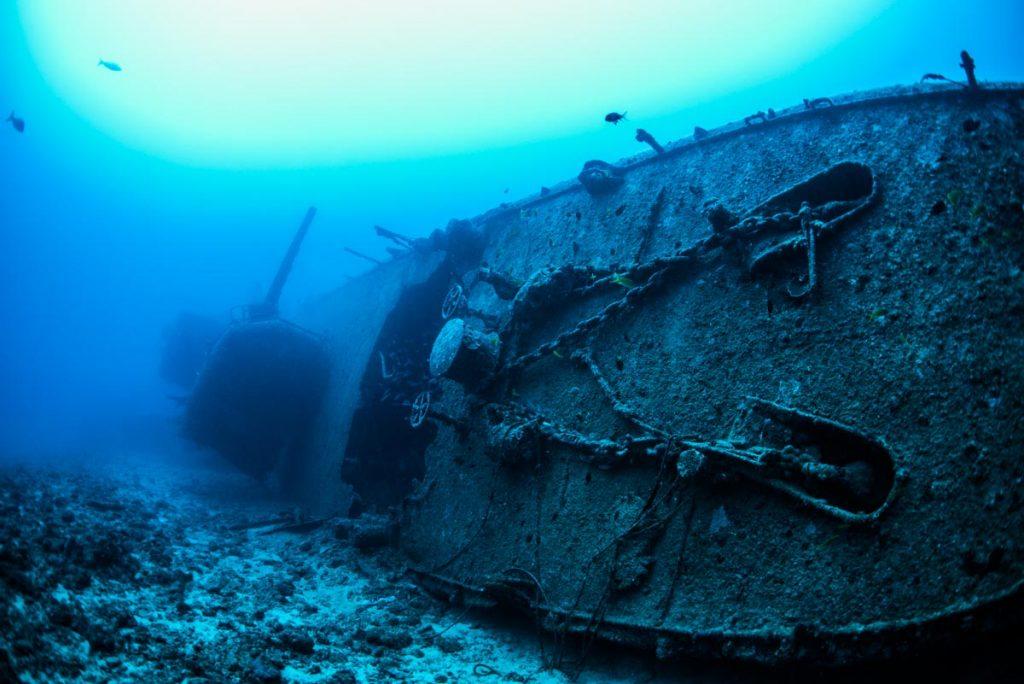 エモンズ・USS EMMONS / 船首と主砲