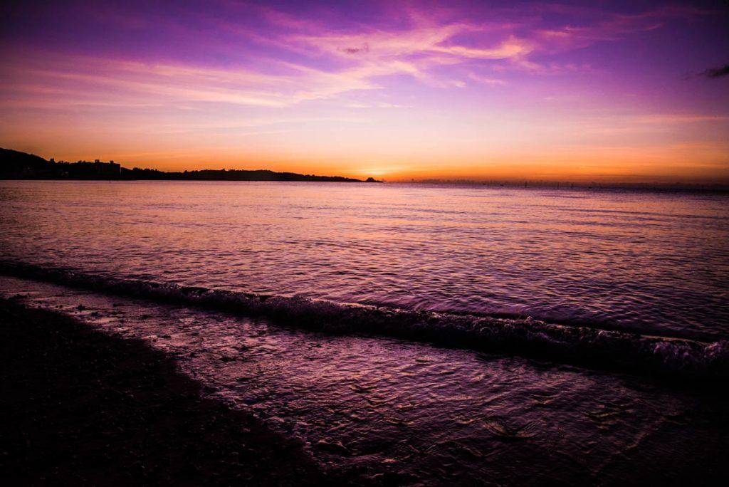 本日の夕日・シークレットビーチ